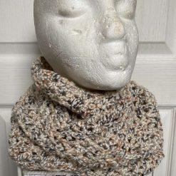 Crochet Infinity Scarf - Oatmeal