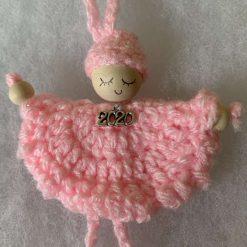 Crochet 2020 Angel Decoration Pale Pink