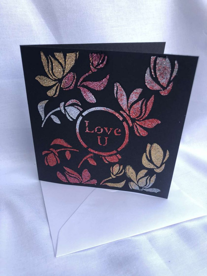 Love U  -  Glitter Greeting Card 1