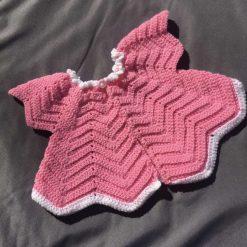 Pink Zig-Zag Cardigan 3-6 Months