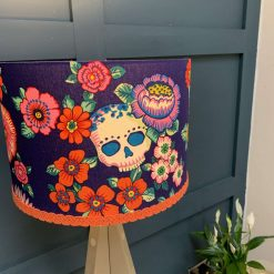 Bright day of the dead style lamp shade