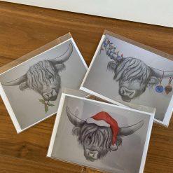 Holly Coo Christmas Card