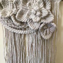 'Trewithen' Boho Macrame Flower Wall Hanging (Free P&P) 1