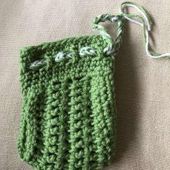 Crochet Soap Bag - Green 6