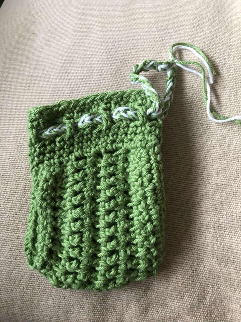 Crochet Soap Bag - Green 3