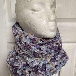 Crochet Infinity Scarf - Heather