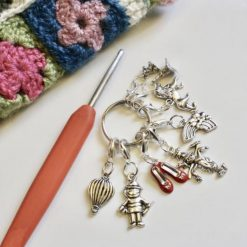 The Wizard of Oz crochet  stitch markers, keepers, holders - Handmade crochet stitch markers - made to order