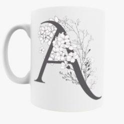 Alphabet Letter Mug  Options  A - Z