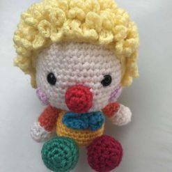 Hand crochet Clown baby