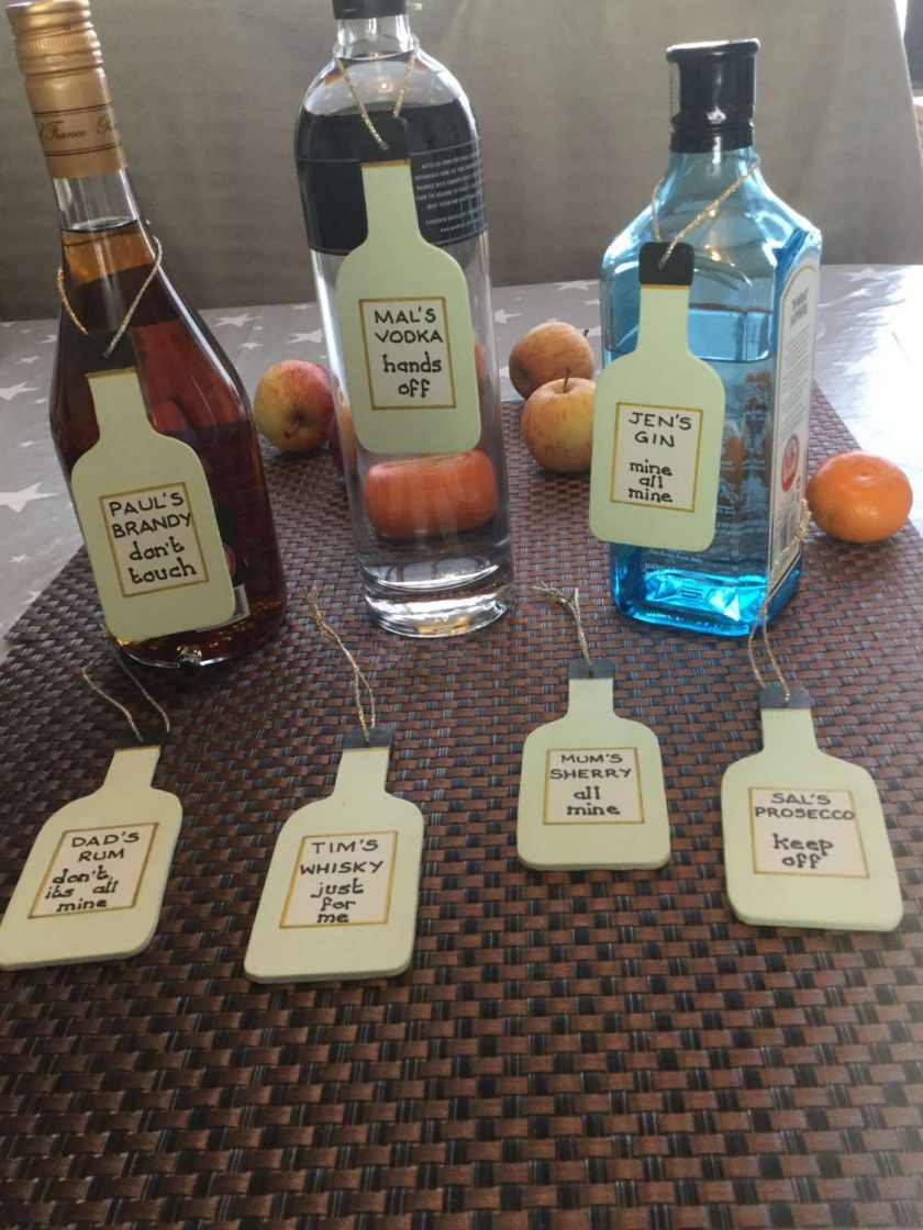 Fun Bottle Plaques for your Gin,Vodka,Sherry,Brandy,Whisky,etc. Personalised for you. 2