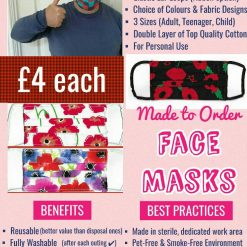 'PPE' Style FACE MASKS 🎄 Christmas CHARITY Collection 🎄 in support of The Alzheimer's Society 🎄 Washable & Reusable (Eco-Friendly) 🎄 Choice of Designs & Sizes 29