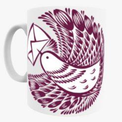 Bird Carrying a Letter mug