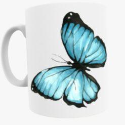 Blue Butterfly Mug - Style 4