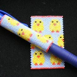 Chicks  Even Count Peyote Pen Cover