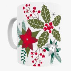 Christmas poinsettia Flower mug