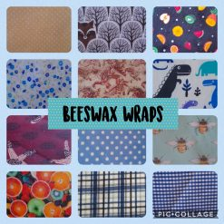 Eco friendly reuseable beeswax food wrap.  20cm square.  Surprise selection