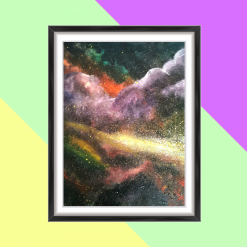 Cool As Foxtrot - A4 Nebula Painting - Cloudy With a Chance of Happiness (A3 available)