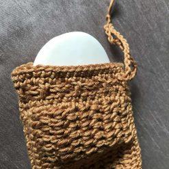 Crochet Soap Bag Brown 4