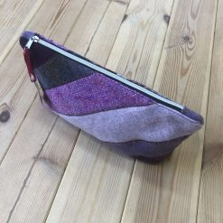 Purple Wool Tweed Make Up Bag 13