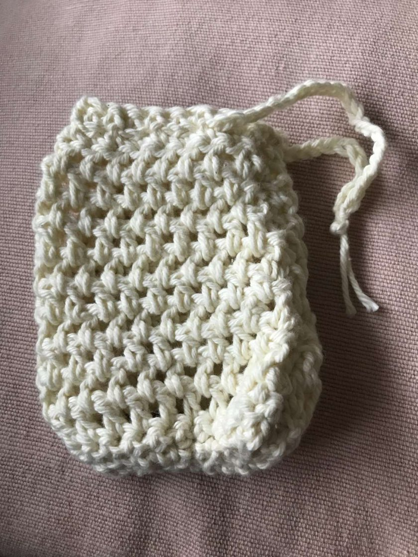Crochet Soap Bag - Pale Yellow 1