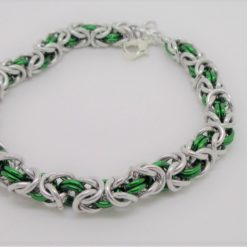 Handwoven  Ladies Byzantine Chainmaille Bracelet. FREE SHIPPING