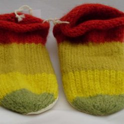 Handknitted Pure Whiteface Wool Slippers Naturally Dyed 24.5 cm UK size 5.5 to 6