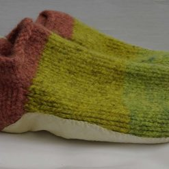 Handknitted Pure Swaledale Wool Slippers Naturally Dyed 24 cm UK size 5.5 to 6 1