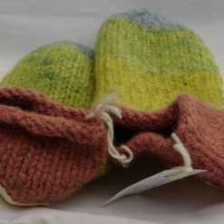 Handknitted Pure Swaledale Wool Slippers Naturally Dyed 24 cm UK size 5.5 to 6 2