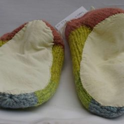 Handknitted Pure Swaledale Wool Slippers Naturally Dyed 24 cm UK size 5.5 to 6 3