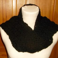 Chunky Crocheted Scarf Black