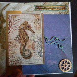 Elephant steampunk happy birthday handmade card