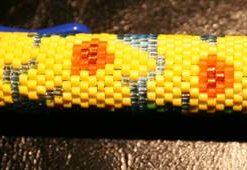 Daffodils  Even Count Peyote Pen Cover