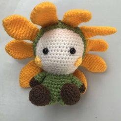 Hand crochet sunflower baby doll