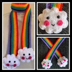 Children's Rainbow Scarf