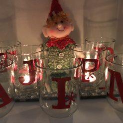 Festive Snow flake jars, with tea lights.