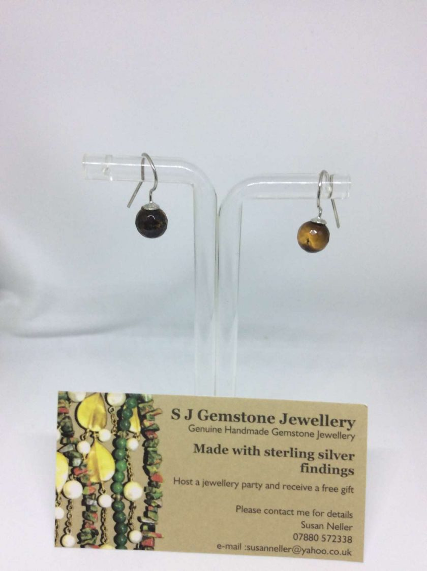 Tiger eye drop earrings 1