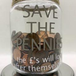 Money Savings Jar Re-cycled jar - Money box