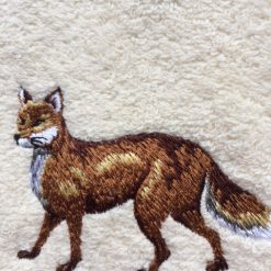 Embroidered fox design face flannel £4.95