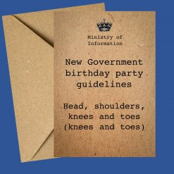 Government guidelines birthday card