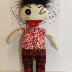 Art Doll, Goth, Doll, Fun Doll, Keepsake, Fun Doll, OOAK, PricklesandSpike