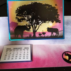 C5 Desk Calendar Safari