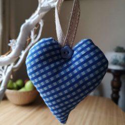 Pretty Blue Hanging Heart Decoration