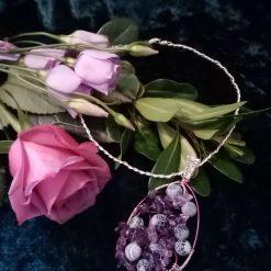 Amathyst Pendant Torque Style Necklace