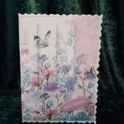 C5 Butterflies and Best Wishes Card