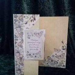 C5 Butterfly Open Greetings Card