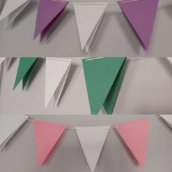 Paper Bunting / Garland Eco Natural Assorted Colours for Birthday, Baby Shower Any Occasion Party Decor