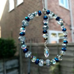 Small Blue And Clear Crystal Sun Catcher
