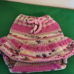 Marathon knitted baby skirt diaper cover 0 to 6 months.
