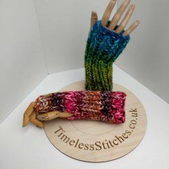 Acrylic Hand Knitted Chunky Fingerless Gloves – ideal for Vegans &  Wool Allergy