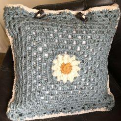 Crochet Daisy Cushion